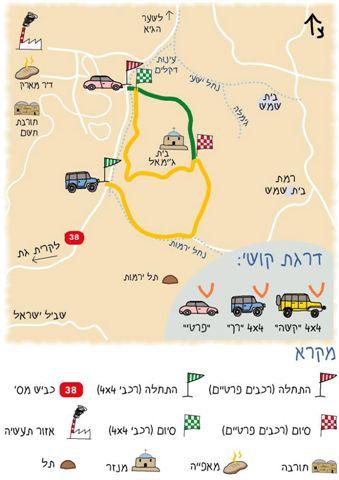 מפת המסלול בית ג'מאל
