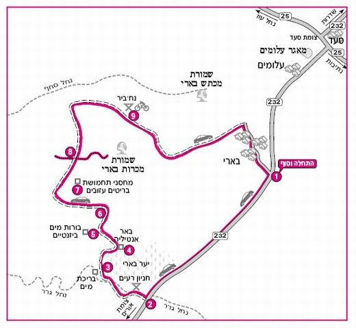 מפת המסלול באדיבות הוצאת מפה