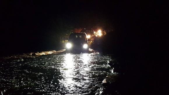 נהיגת לילה חציית מים
