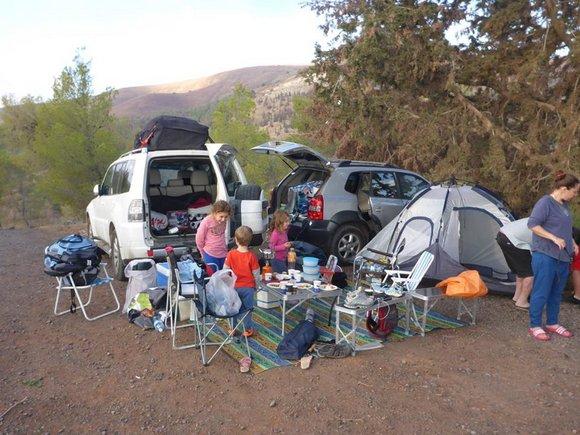 ראלי שבילים מחנה אוהלים