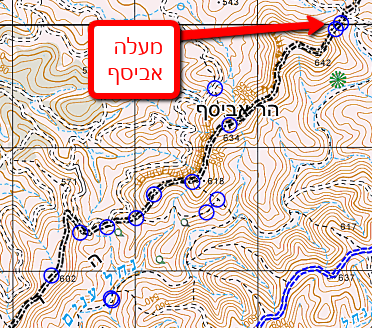 מפה הר אביסף - מעלה אביסף