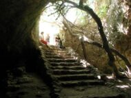 מסלול טיול בנחל המערה. מפת המסלול באדיבות הוצאת מפה