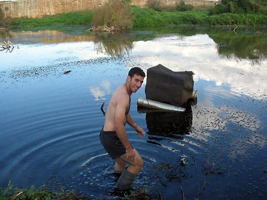 מלכודת שמונחת במים תצלומים רשות הטבע והגנים