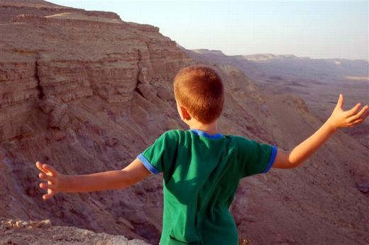 תצפית מעל המכתש הגדול - מכתש חתירה