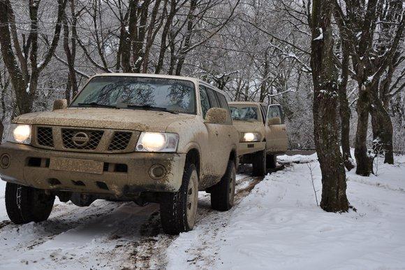 גיאורגיה טיול שלג ניסאן פטרול