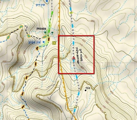 מעלה זיק / מפה: שבילנט