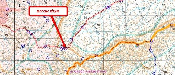 מפה מעלה אברהם