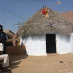 הודו כפר בקתת קש