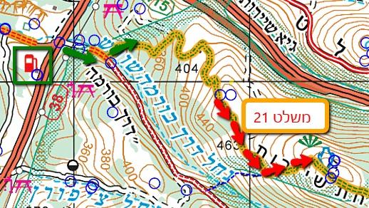 משלט 21 מפה