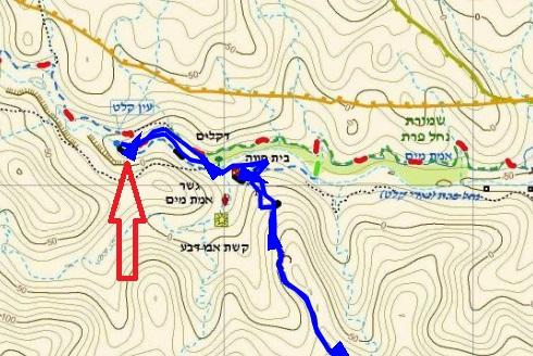 מפה עין קלט ואדי קלט