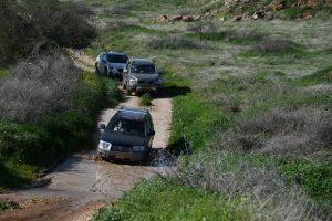עמק המעיינות, רכבי פנאי SUV, ג'יפונים, טיולי משפחות